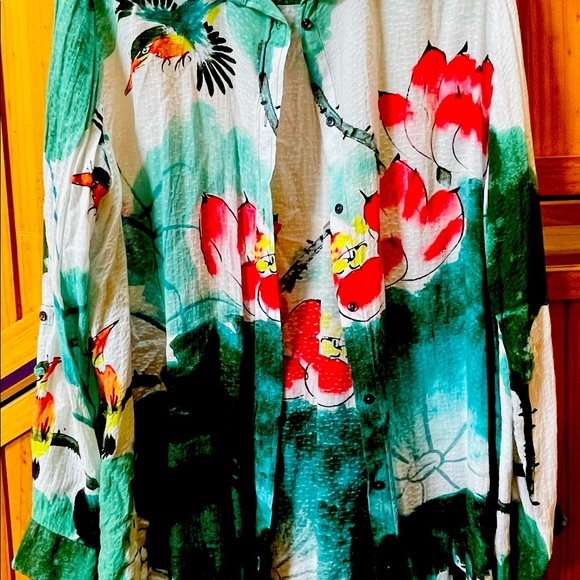Desigual beautiful colourful summer shirt size XXL